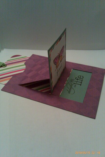 Pop Up Card Open - Side View