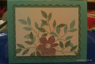 Papertreyink with stampin up stamps - flower card